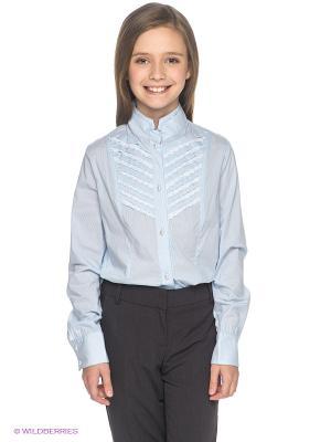 Блузка SILVER SPOON. Цвет: светло-голубой
