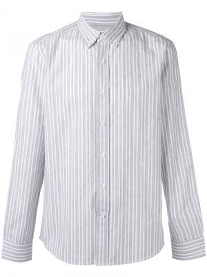Striped button down shirt Brunello Cucinelli. Цвет: серый