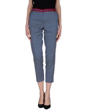 Повседневные брюки TERESA DAINELLI. Цвет: синий