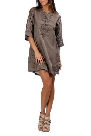Платье Laklook. Цвет: коричневый