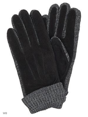 Перчатки Malgrado. Цвет: черный, серый