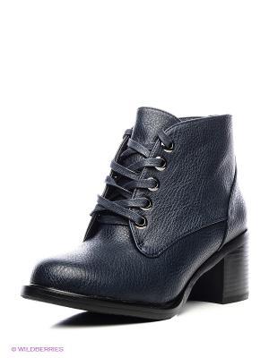 Ботинки J&Elisabeth. Цвет: темно-синий