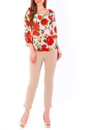 Блуза S&A style. Цвет: молочно-красный