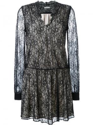 Платье Deena Alice+Olivia. Цвет: чёрный