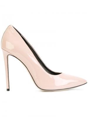 Туфли-лодочки с заостренным носком Marc Ellis. Цвет: розовый и фиолетовый