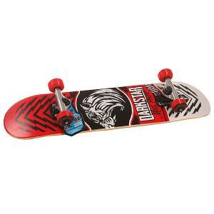 Скейтборд в сборе детский  S6 Lion Youth Soft Top Mic Red 28.5 x 6.75 (17.1 см) Darkstar. Цвет: белый,красный,черный