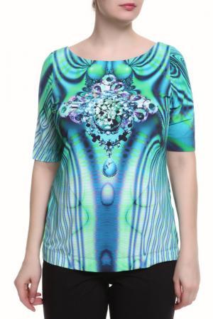 Блуза Maria Grazia Severi. Цвет: зеленый