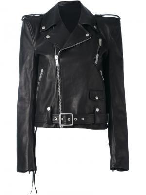 Байкерская куртка Unravel Project. Цвет: чёрный