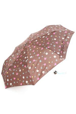 Зонт Bisetti. Цвет: коричневый