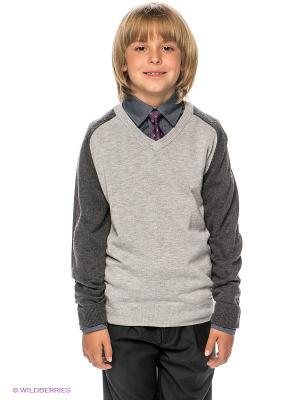 Пуловер BORELLI. Цвет: серый, темно-серый