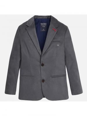 Пиджак Mayoral. Цвет: серый