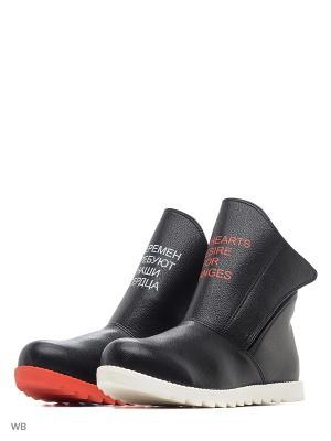 Ботинки высокие AZ-ART. Цвет: черный