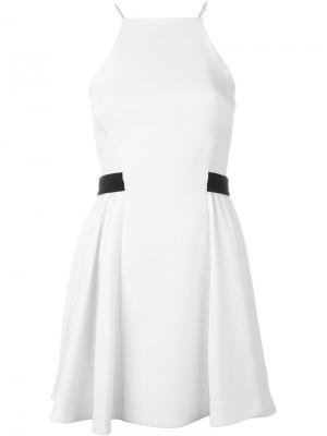 Платье с пышной юбкой David Koma. Цвет: белый