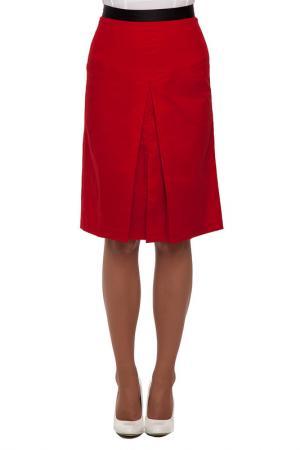 Юбка Gloss. Цвет: красный, черный