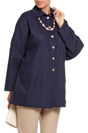 Рубашка Disetta. Цвет: темно-синий