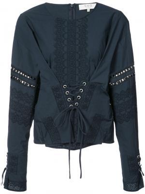 Corset shirt Sea. Цвет: синий