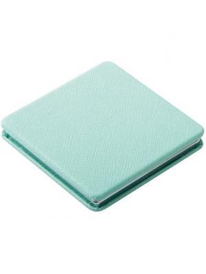 Зеркало  Палитра карманное квадратное Dewal. Цвет: голубой