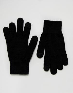 Levis Черные перчатки для сенсорных гаджетов. Цвет: черный