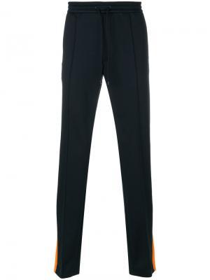 Спортивные брюки с лампасами Valentino. Цвет: синий