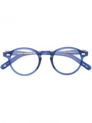 Очки Miltzen Moscot. Цвет: синий