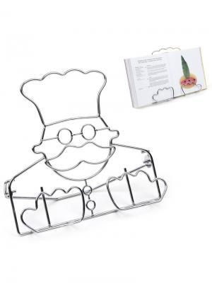Держатель для книг Le Chef Balvi. Цвет: серебристый