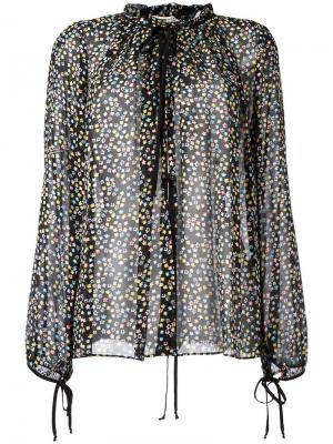 Прозрачная блузка с цветочным принтом Dorothee Schumacher. Цвет: чёрный