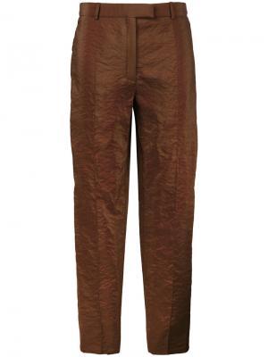 Укороченные брюки прямого кроя Nina Ricci. Цвет: коричневый