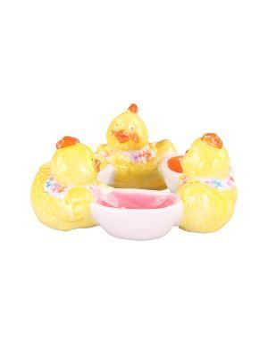 Подставка для 3-ёх яиц 15*14,5*6 см. PATRICIA. Цвет: светло-зеленый