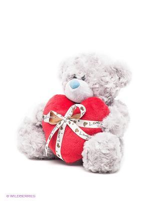 Медведь PLUSH APPLE. Цвет: серый, красный