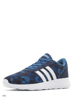 Кроссовки LITE RACER  CONAVY/FTWWHT/CORBLU Adidas. Цвет: темно-синий, белый