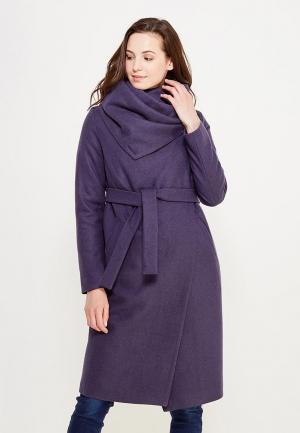 Пальто GK Moscow. Цвет: фиолетовый