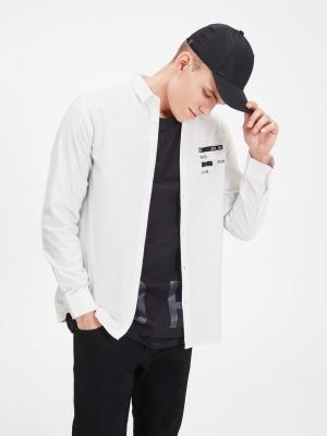 Рубашка Jack&Jones. Цвет: белый