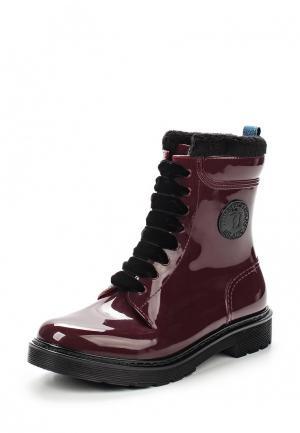 Резиновые ботинки Trussardi Jeans. Цвет: бордовый