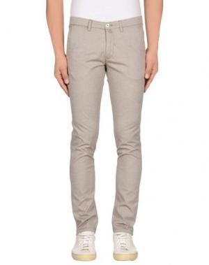 Повседневные брюки BARBATI. Цвет: голубиный серый