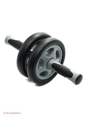 Колесико гимнастическое двойное 1629EG-IB Iron Body. Цвет: серый, черный