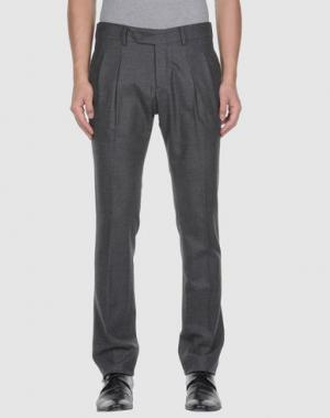 Классические брюки MAURIZIO MIRI. Цвет: стальной серый