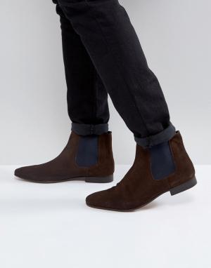 KG Kurt Geiger Замшевые ботинки челси By. Цвет: рыжий