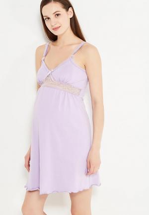 Сорочка ночная Hunny mammy. Цвет: фиолетовый