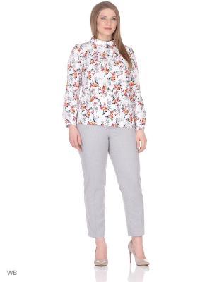 Блузка BARTELLI. Цвет: белый, рыжий, серый
