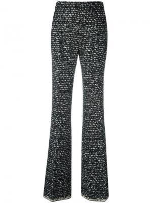 Расклешенные брюки с открытой строчкой Giambattista Valli. Цвет: чёрный