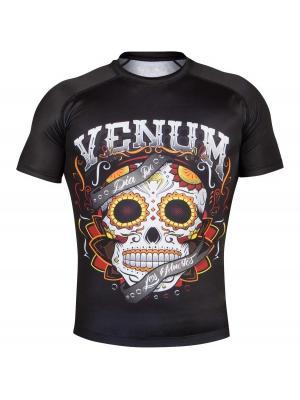 Рашгард Venum Santa Muerte 2.0 Black S/S. Цвет: черный