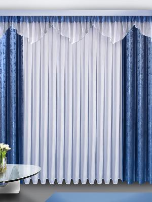 Комплект штор ZLATA KORUNKA. Цвет: синий