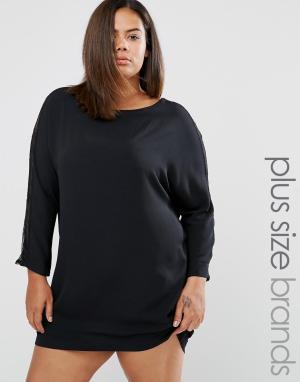 Elvi Кружевное платье Plus. Цвет: черный
