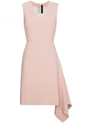 Асимметричное мини-платье Roland Mouret. Цвет: розовый и фиолетовый