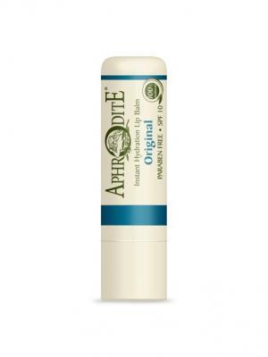 Защитный бальзам для губ оригинальный, без запаха Aphrodite. Цвет: оливковый