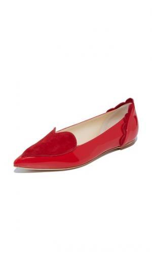 Обувь на плоской подошве Clement Isa Tapia. Цвет: красная помада
