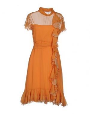 Платье до колена LUISA BECCARIA. Цвет: оранжевый