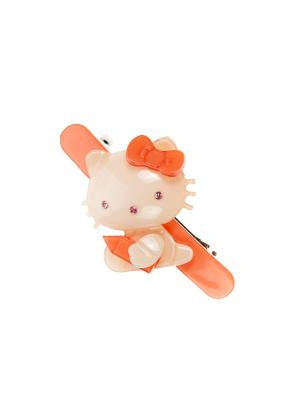 Заколка-автомат  для волос LITTLE MANIA. Цвет: оранжевый, розовый, серебристый