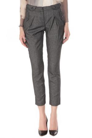 Укороченные брюки с застежкой на молнию ERMANNO BY SCERVINO. Цвет: v001 черный