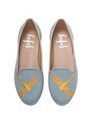 Слиперы - Стрекоза Lucifer's shoes. Цвет: светло-серый